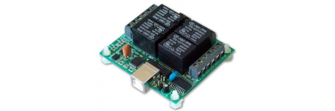 USB 4-channel Relay card